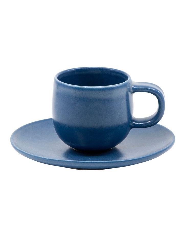 Hue Espresso Cup and Saucer Set 85ml/12cm - Blue image 1