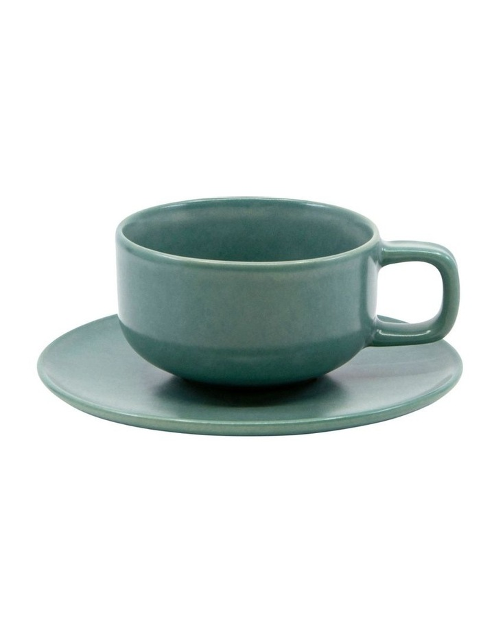 HUE Tea Cup and Saucer Set - 200ml/15.5cm - Green image 1