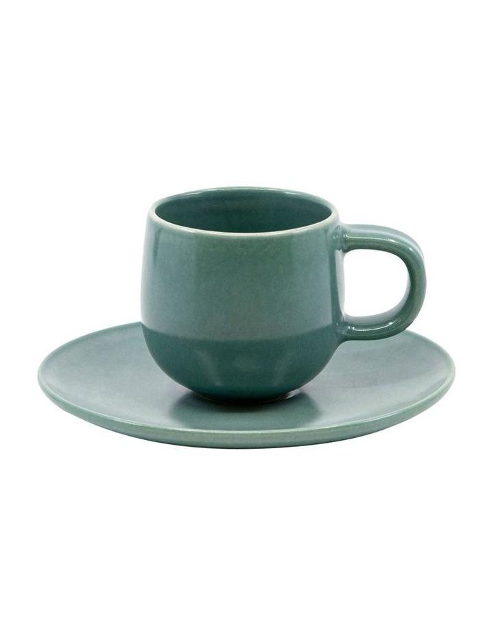 HUE Espresso Cup and Saucer Set - 85ml/12cm - Green image 1