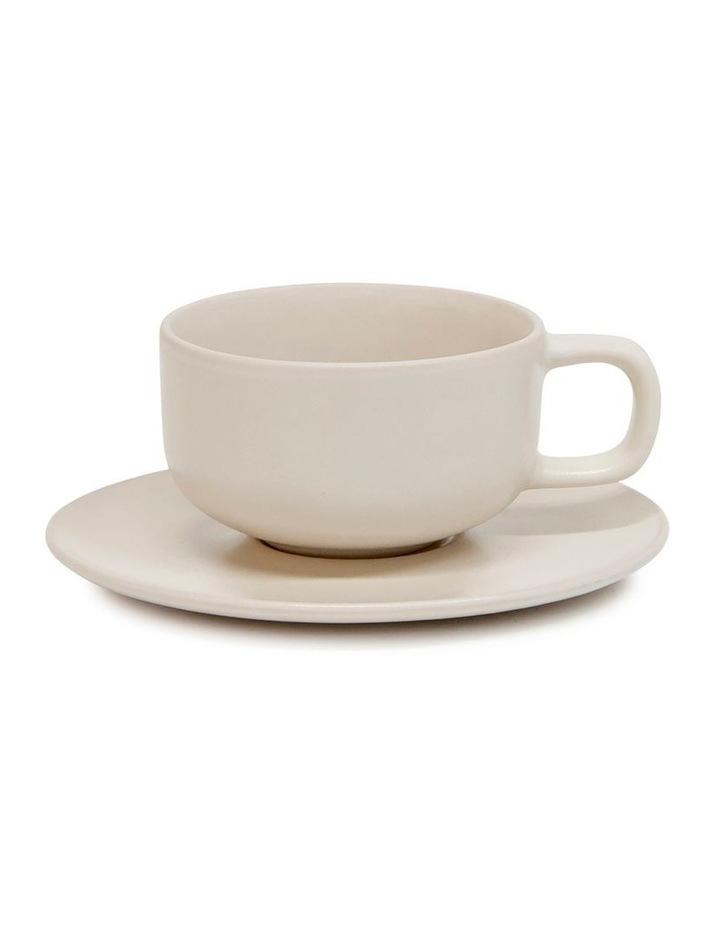 HUE Tea Cup and Saucer Set - 200ml/15.5cm - Stone image 1