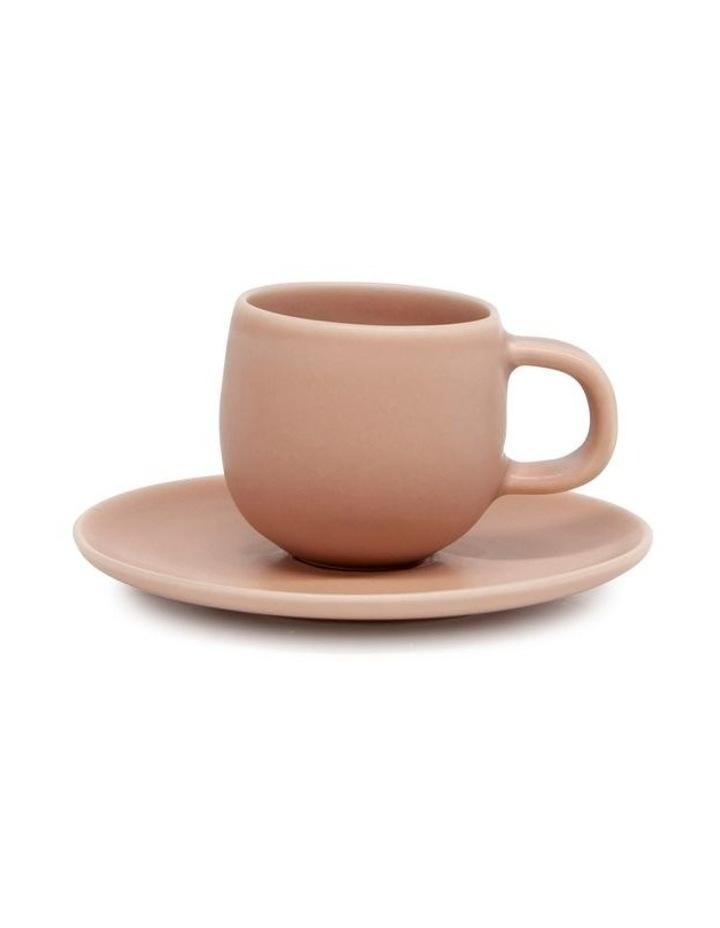 Hue Espresso Cup & Saucer - 85ml - Blush image 1