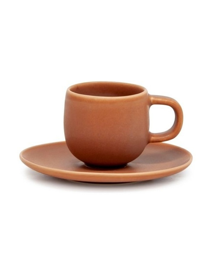Hue Espresso Cup & Saucer - 85ml - Rust image 1