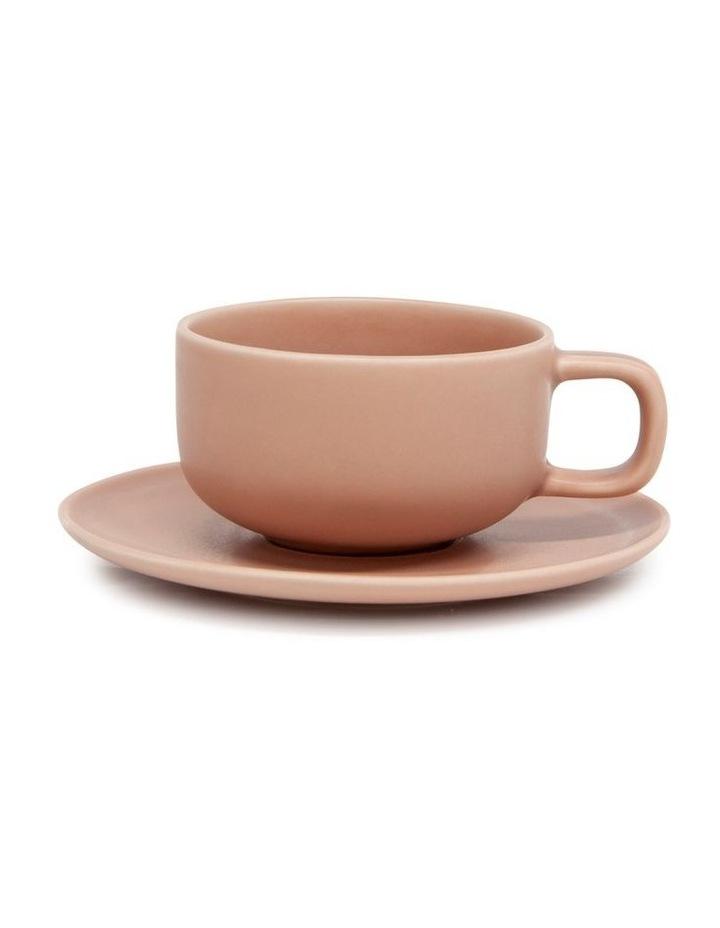Hue Tea Cup & Saucer - 200ml - Blush image 1