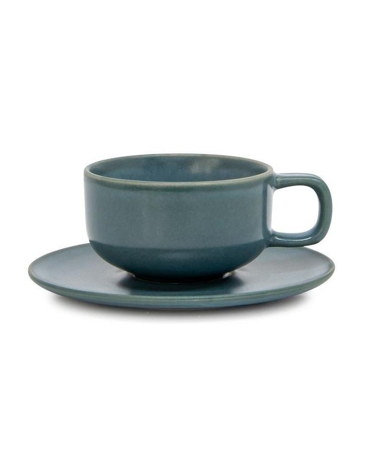 Hue Tea Cup & Saucer - 200ml - Sage image 1