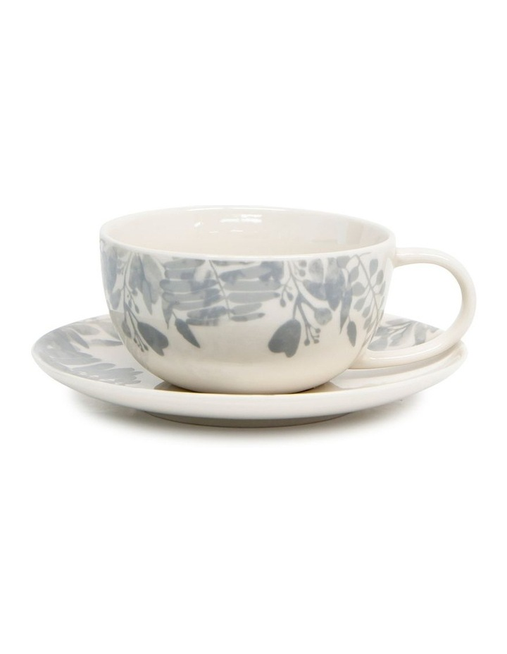 Neri Tea Cup & Saucer - 250ml - Cloud image 1