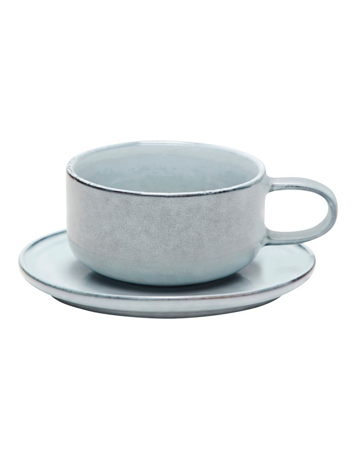 Relic Tea Cup & Saucer in Blue image 1