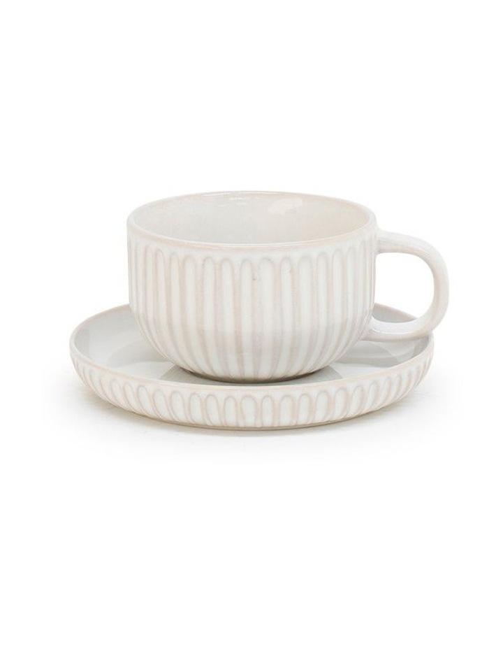 Amana Tea Cup & Saucer - 240ml - White image 1