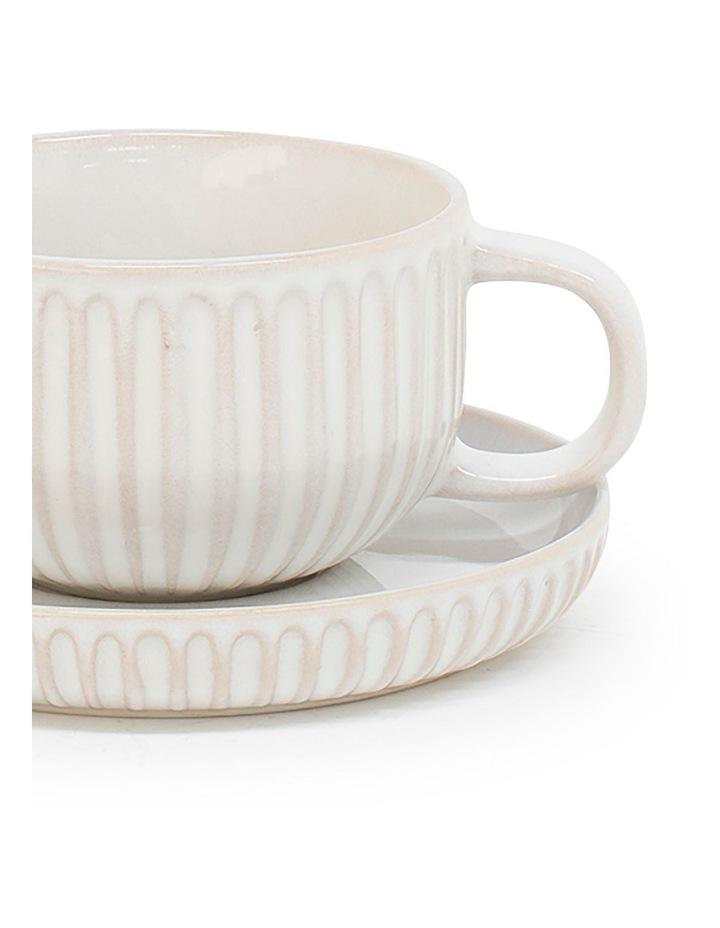 Amana Tea Cup & Saucer - 240ml - White image 2