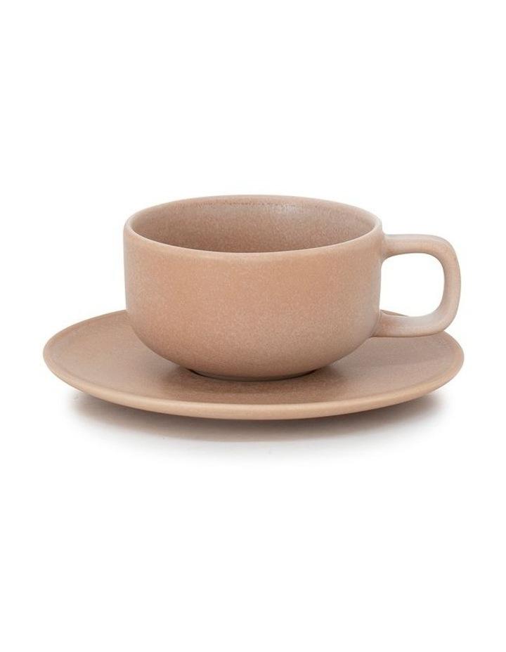 Hue Tea Cup & Saucer - 200ml - Toffee image 1