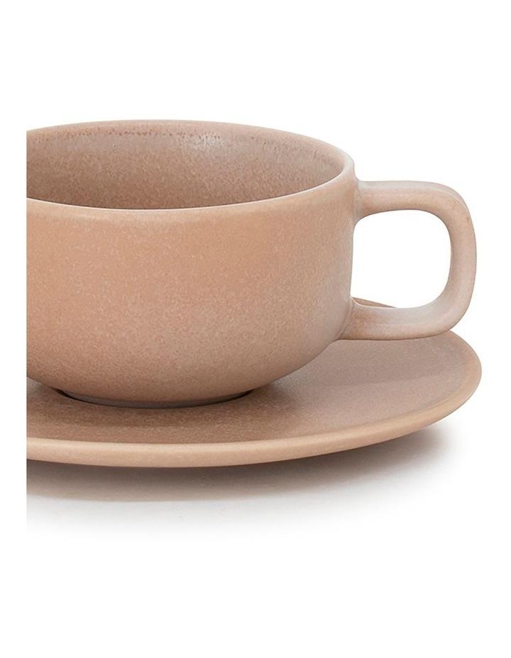Hue Tea Cup & Saucer - 200ml - Toffee image 2
