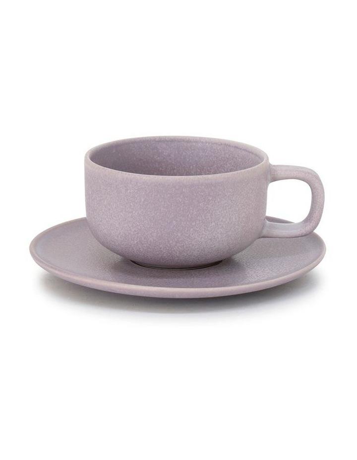 Hue Tea Cup & Saucer - 200ml - Lilac image 1