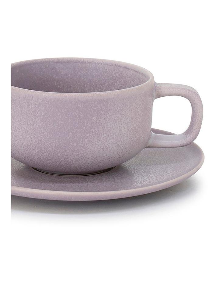 Hue Tea Cup & Saucer - 200ml - Lilac image 2