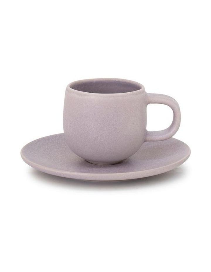 Hue Espresso Cup & Saucer - 85ml - Lilac image 1