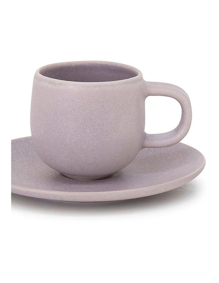 Hue Espresso Cup & Saucer - 85ml - Lilac image 2