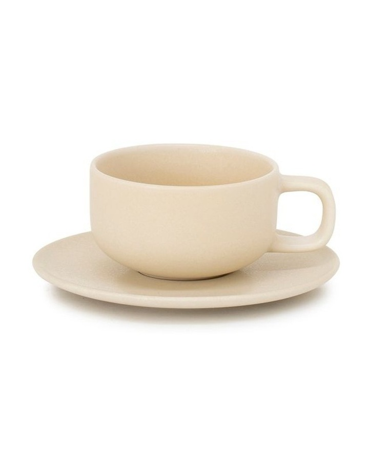 Hue Tea Cup & Saucer - 200ml - Butter image 1