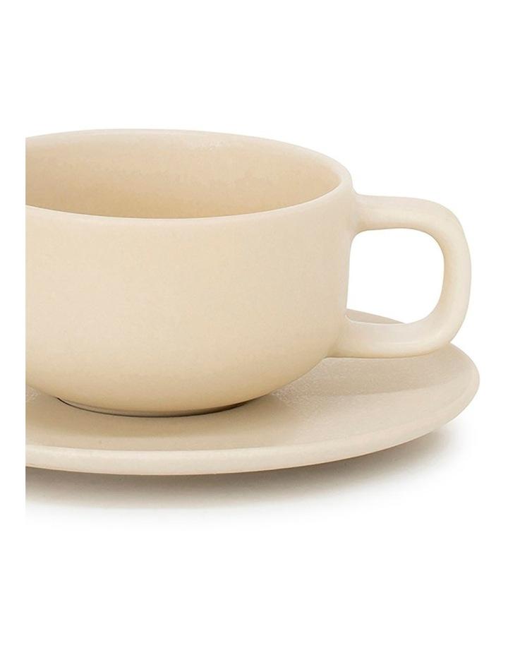 Hue Tea Cup & Saucer - 200ml - Butter image 2