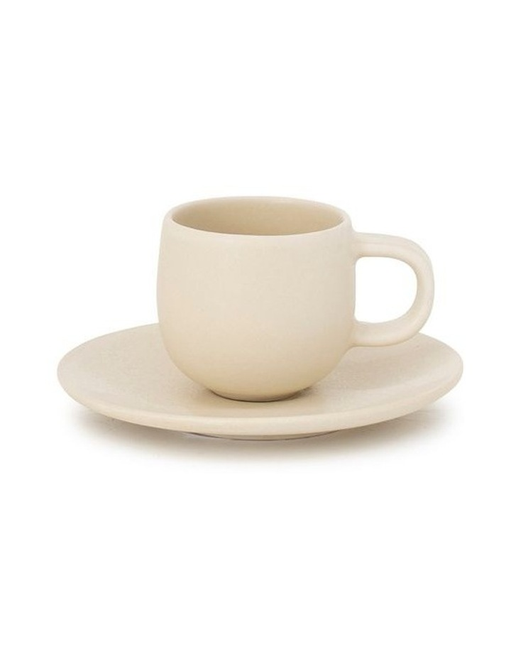 Hue Espresso Cup & Saucer - 85ml - Butter image 1