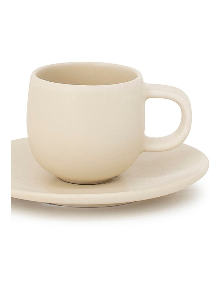 Hue Espresso Cup & Saucer - 85ml - Butter image 2