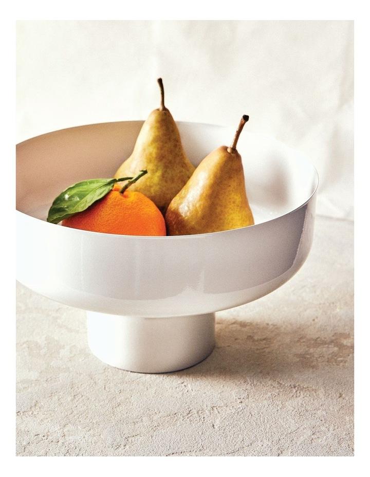 Amana Footed Fruit Bowl - 26cm - White image 2