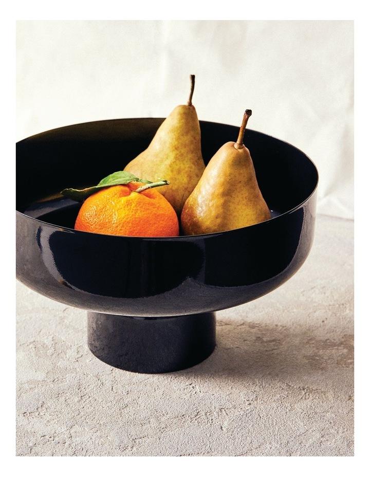 Amana Footed Fruit Bowl - 26cm - Black image 2