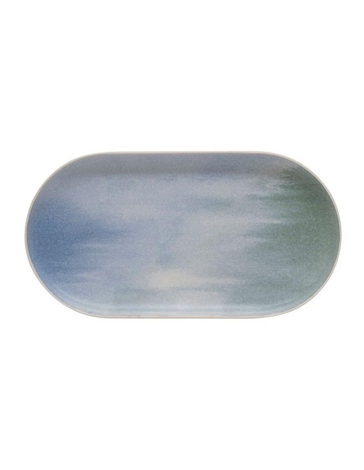 Kanoko Rectangle Platter - 28cm - Blue image 2