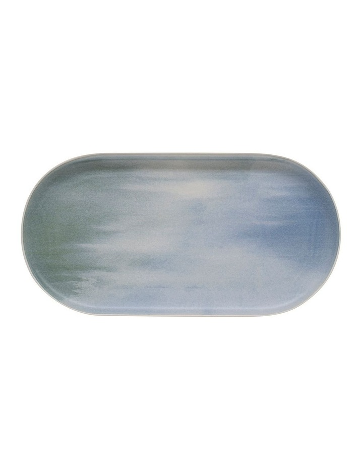 Kanoko Rectangle Platter - 38cm - Blue image 2