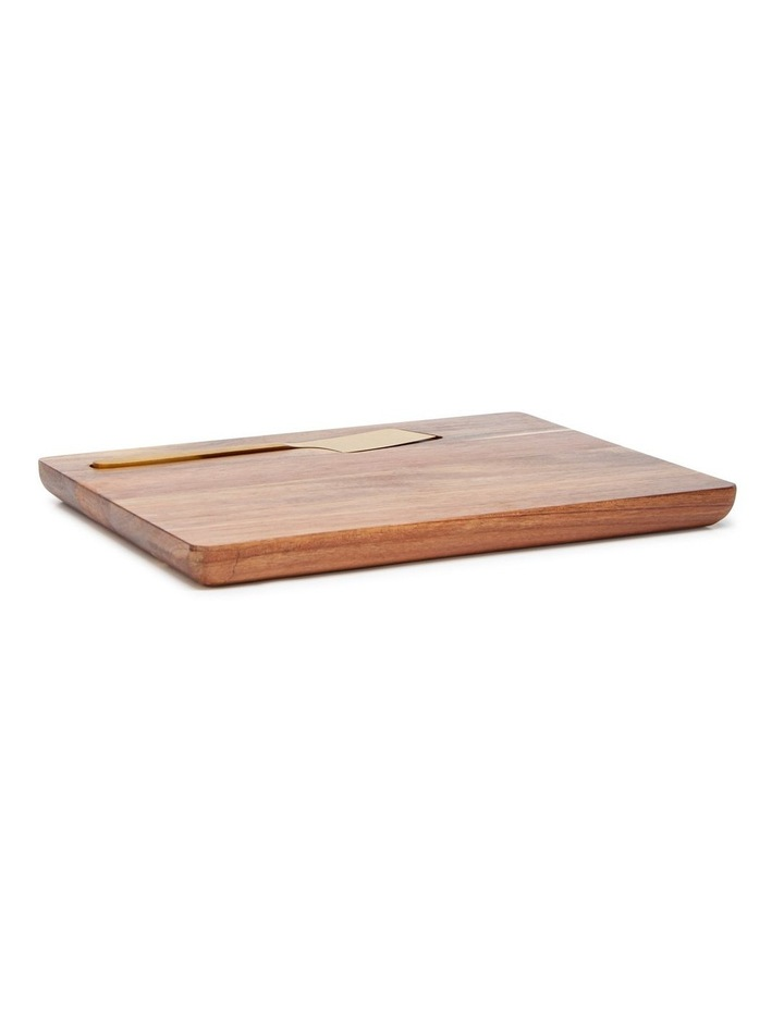 Provedore 33cm Serving Board With Cheese Knife in Natural image 1