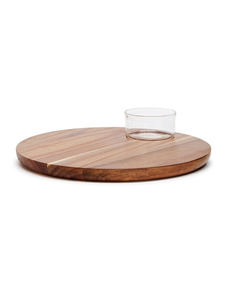 Provedore Serving Board With Bowl - 35cm image 1