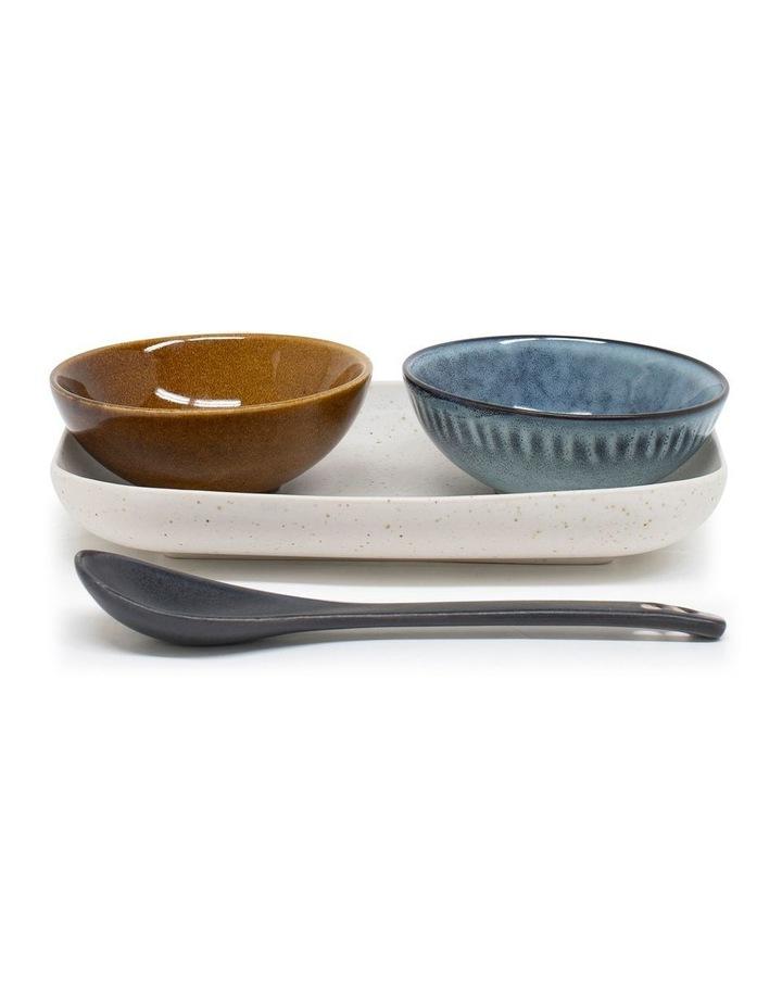 Osaka 4 Piece Set 20cm Dish2x10cm Bowl And Spoon - Stone image 1