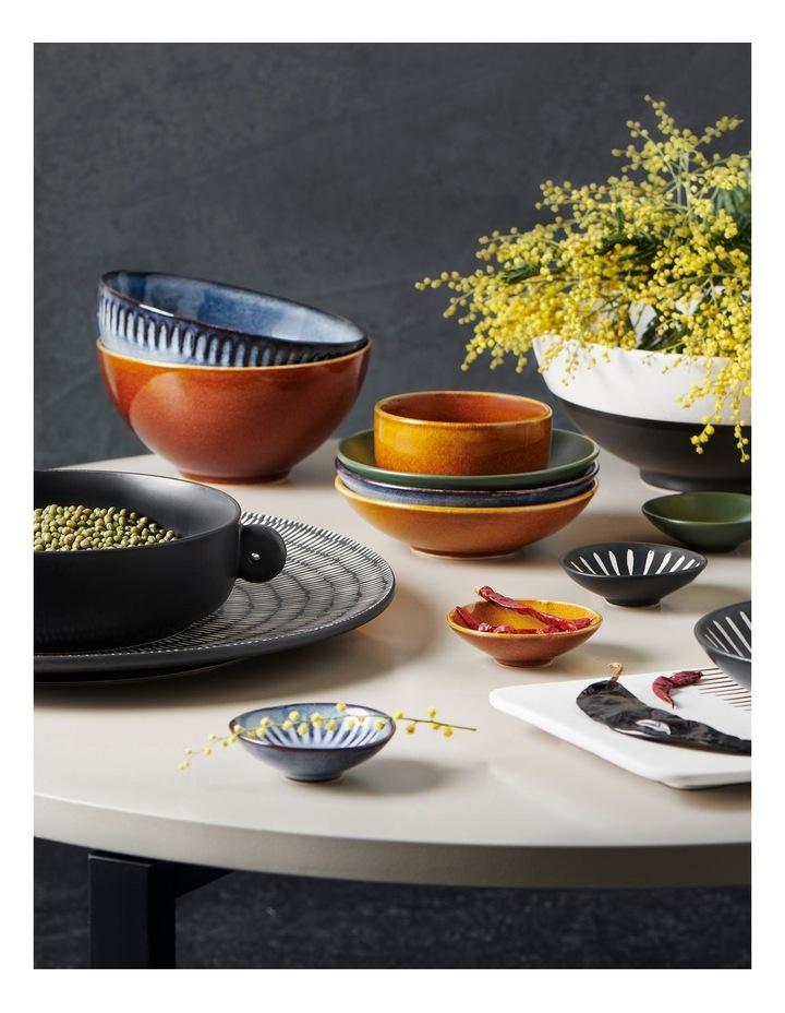 Osaka 4 Piece Set 20cm Dish 2x10cm Bowl And Spoon - Black image 6
