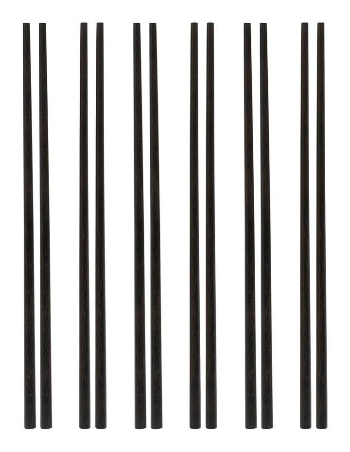 Osaka Chopsticks - 6 Piece - Black image 1