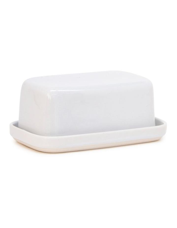 BEACON Butter Dish - 17cm - White image 1