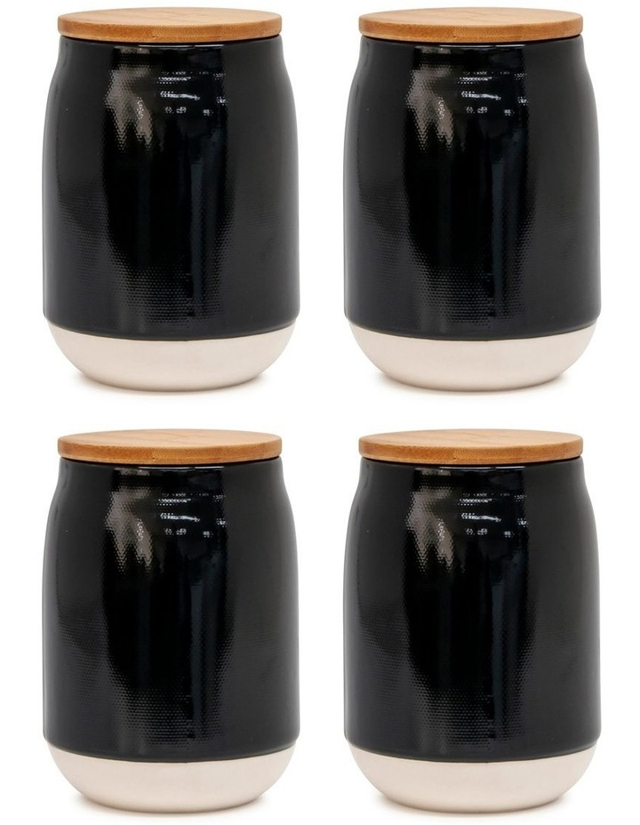 BEACON Canister - 15cm - Black - Set of 4 image 1