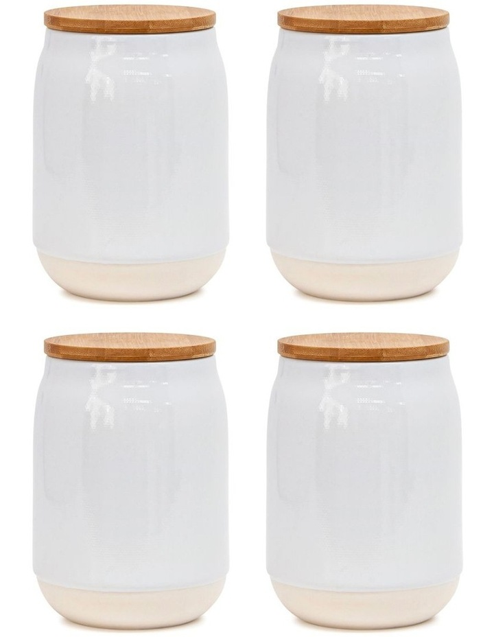 BEACON Canister - 15cm - White - Set of 4 image 1