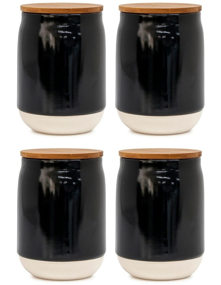 BEACON Canister - 17cm - Black - Set of 4 image 1