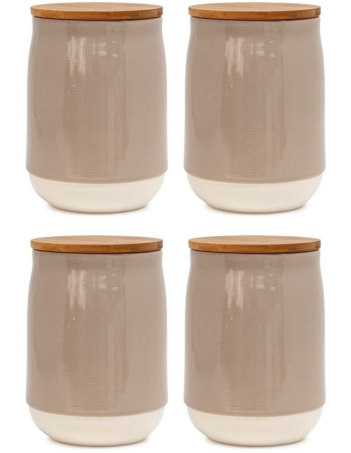 BEACON Canister - 17cm - Latte - Set of 4 image 1
