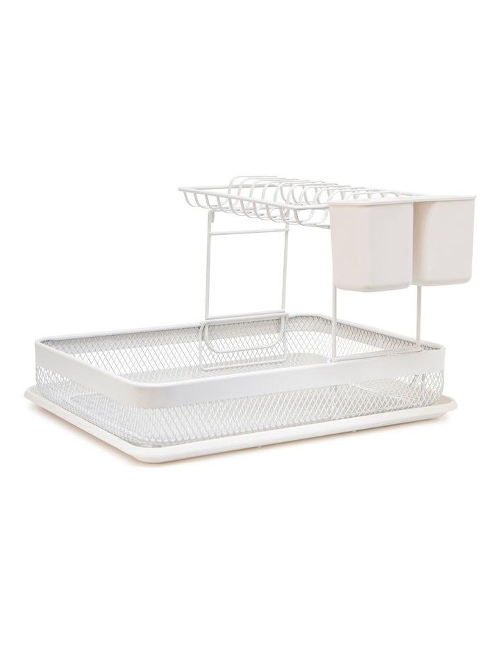 Ebony Stackable Dish Rack Set - 41cm - White image 1