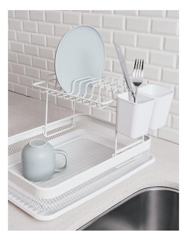 Ebony Stackable Dish Rack Set - 41cm - White image 2