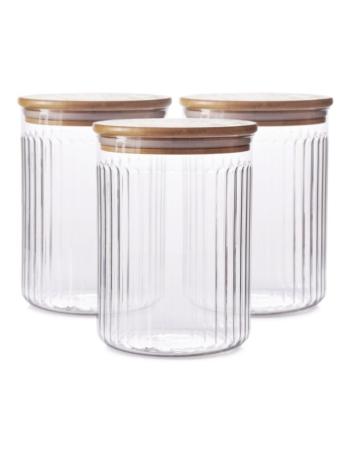BREW Glass Canister Set - 3-Piece - 13x17cm image 1