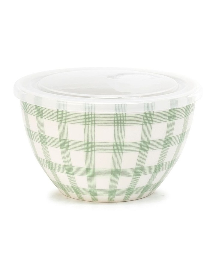 Lunch2Go 15cm Bowl With Lid in Mint Gingham image 1