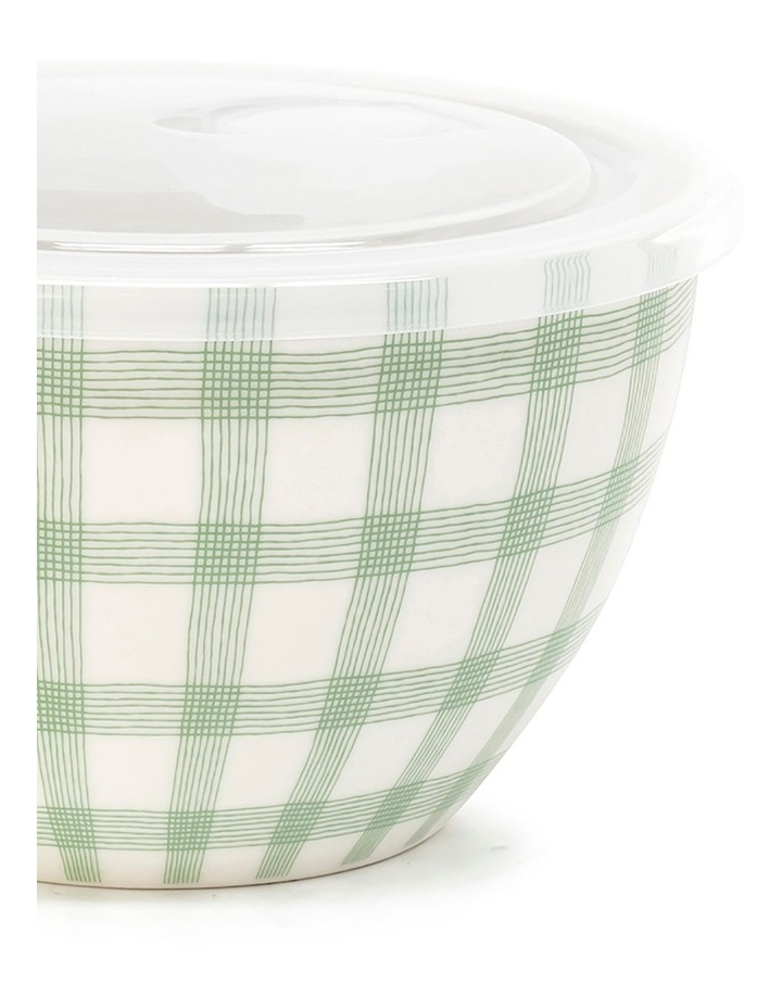 Lunch2Go 15cm Bowl With Lid in Mint Gingham image 2