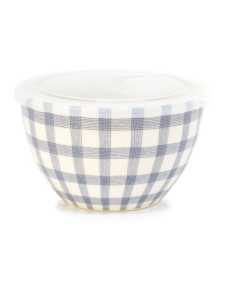Lunch2Go 15cm Bowl With Lid in Blue Gingham image 1