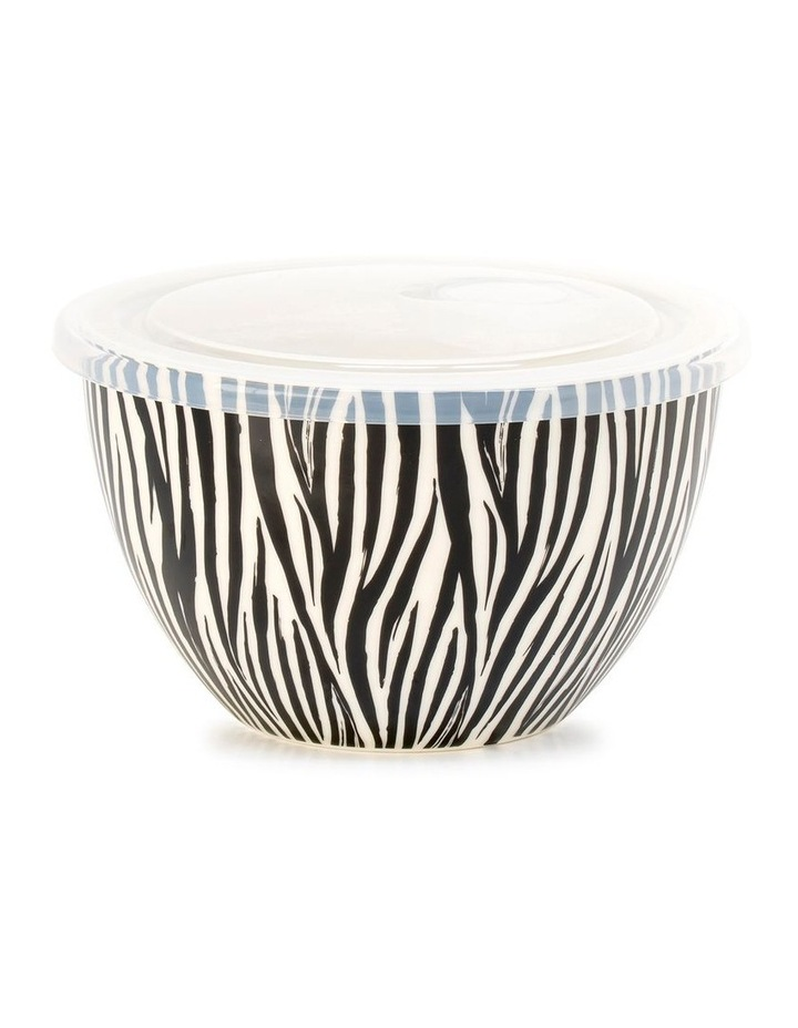 Lunch2Go 15cm Bowl With Lid in Black Zebra image 1