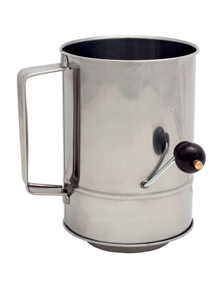 Flour Sifter 5 cup with Crank Handle image 1