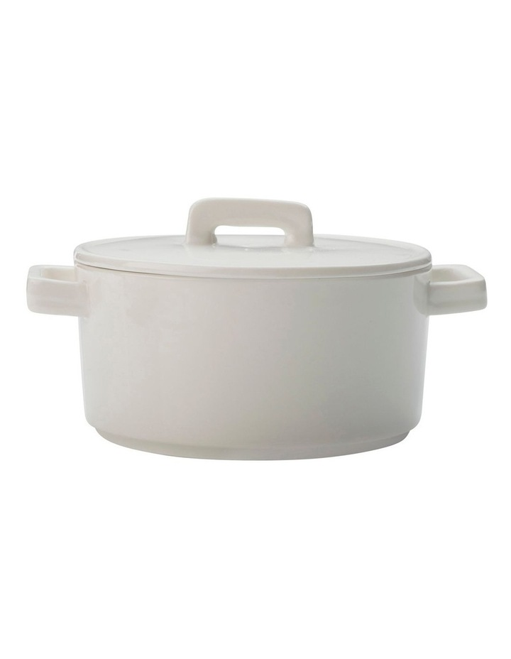 Epicurious Round Casserole 500ML White Gift Boxed image 1