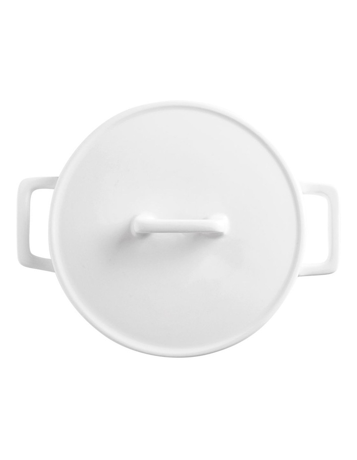 Epicurious Round Casserole 500ML White Gift Boxed image 2