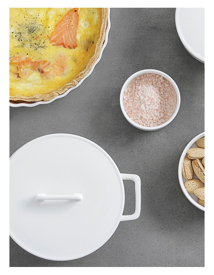 Epicurious Round Casserole 500ML White Gift Boxed image 3