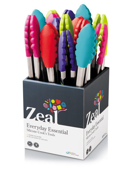 Silicone Tongs - Assorted Colours image 1