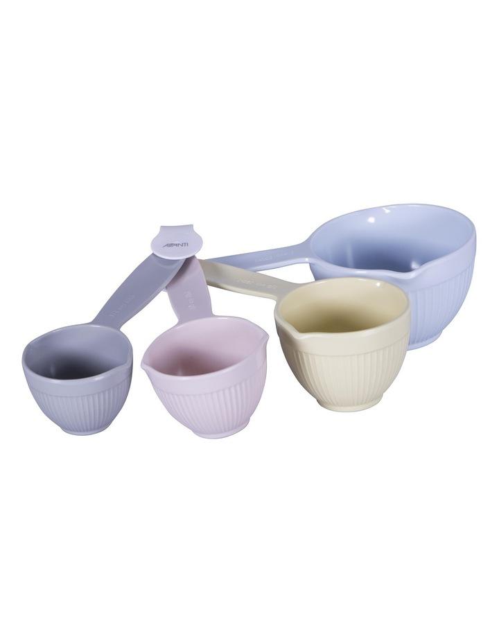 Melamine Ribbed Measuring Cup Set - Pastel image 1