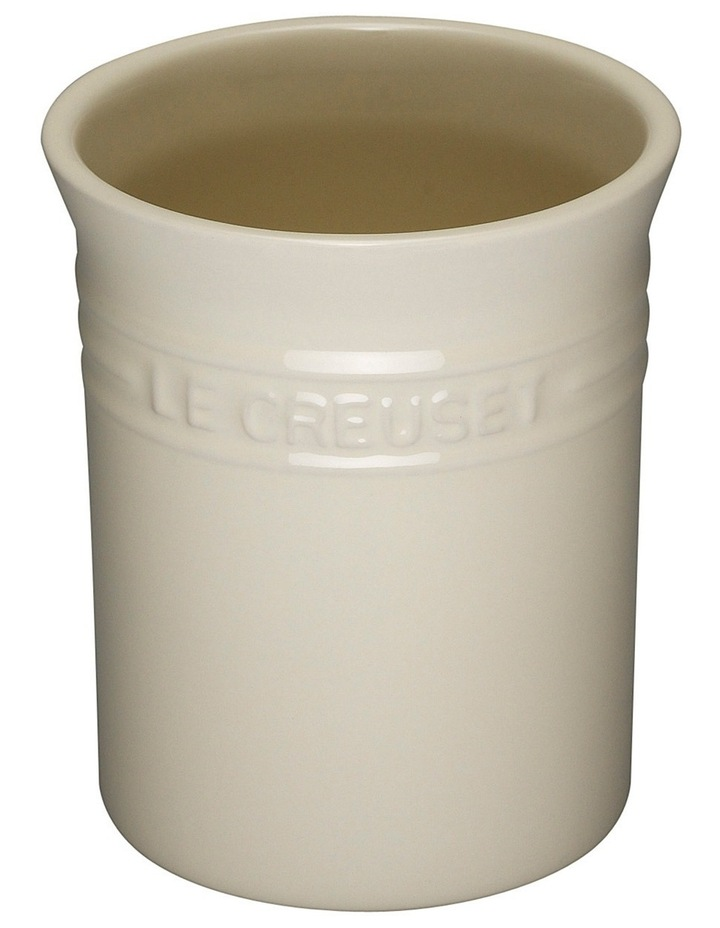 Small Utensil Jar-Creme image 1